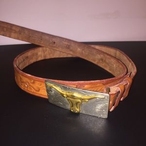 Accessories - Embossed Western Belt | Longhorn Buckle | Mexico